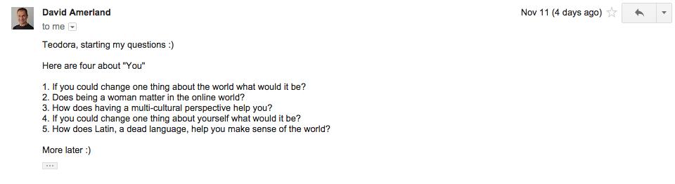 David Amerlands Questions