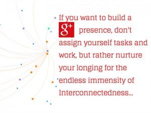 Quote on Google Plus Presence