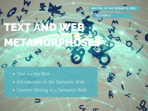 Text and Web Metamorphoses Image