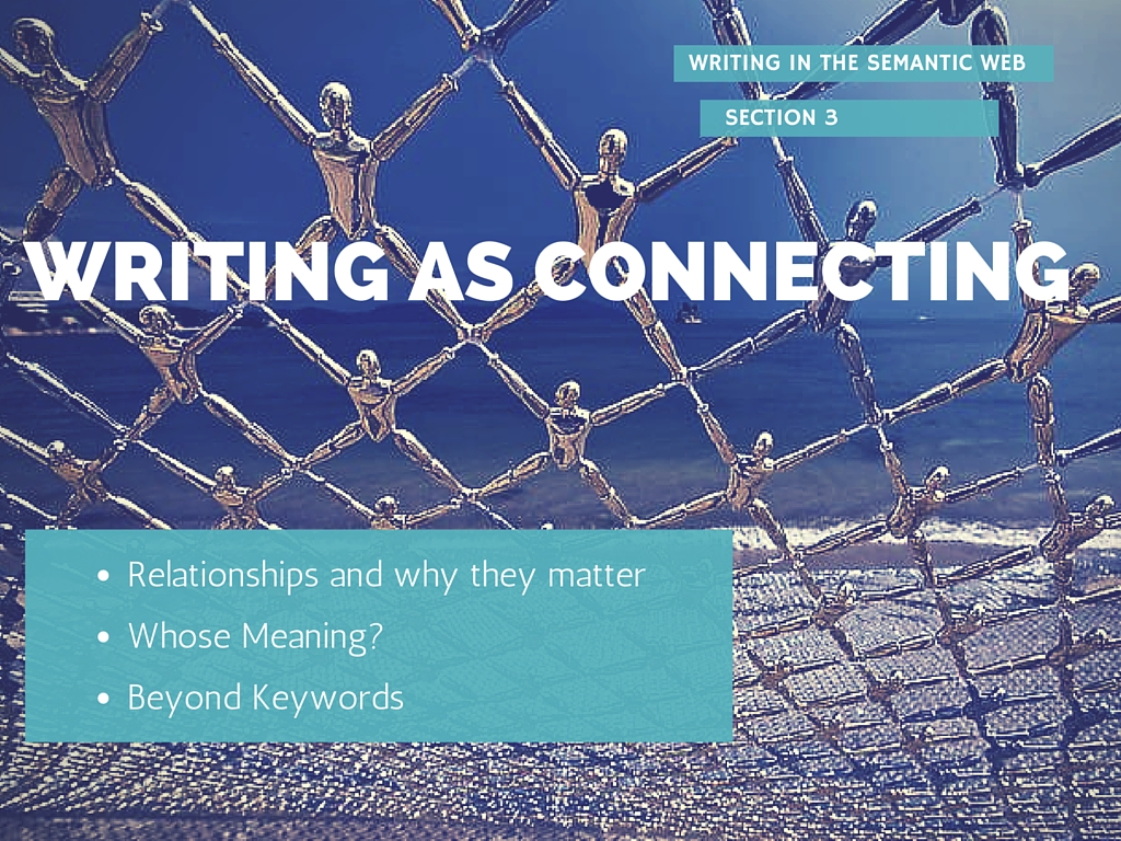 Writing as connecting Image