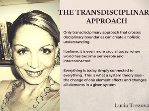 Lucia Trezova The transdisciplinary approach quote