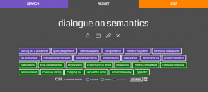 cise dialogue on semantics screenshot