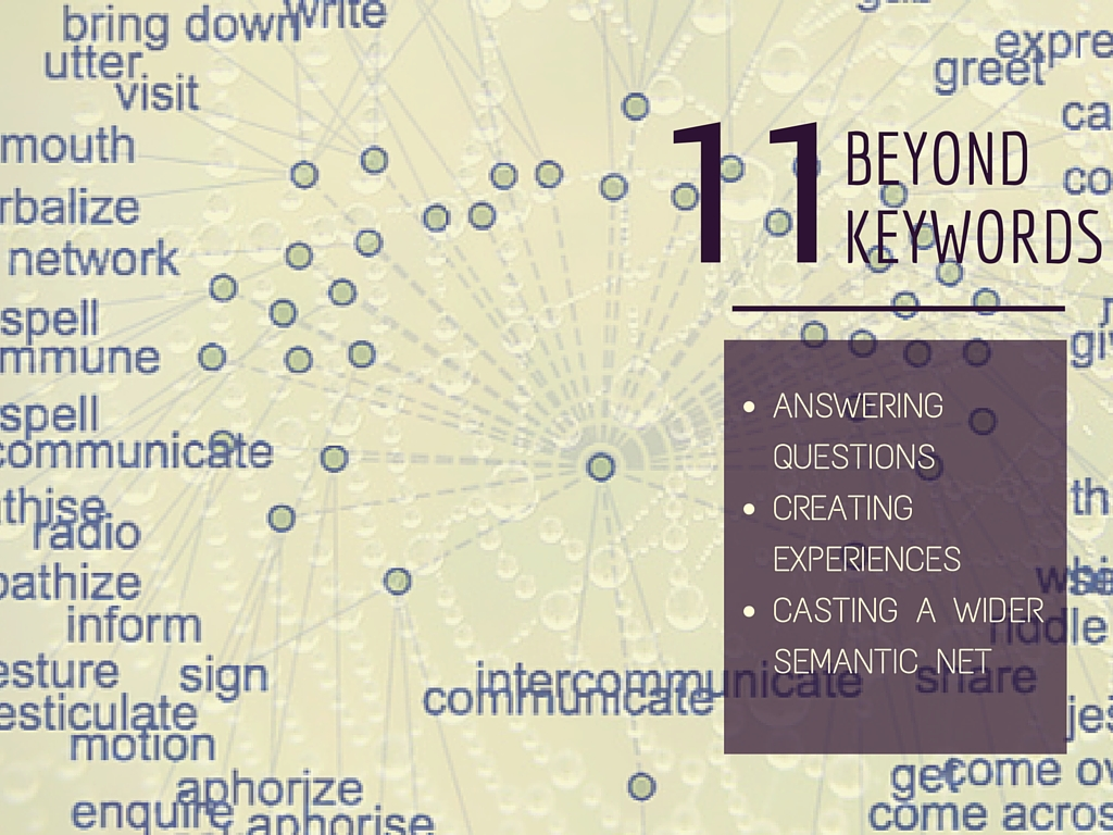 Contents of the lecture Beyond keywords