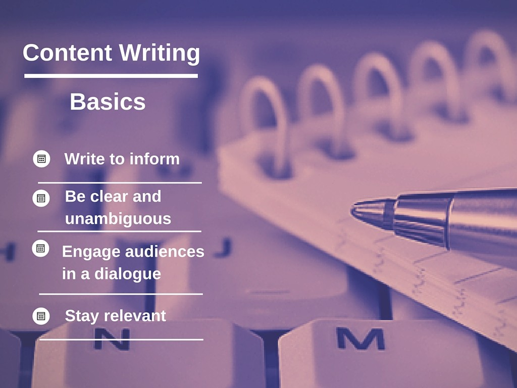 Content writing for websites examples
