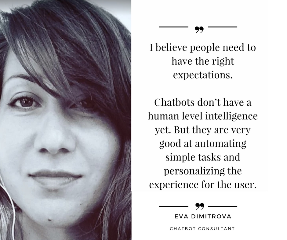 Eva Dimitrova quote on chatbots