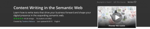 Check my course Content Writing in the Semantic Web.