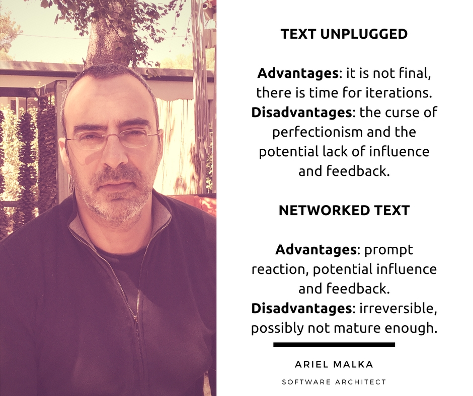 Ariel Malka on Text