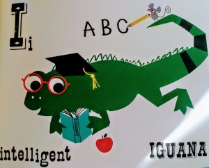 Intelligent Iguana Animal Alphabet from Kay Vincent